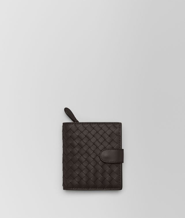 BOTTEGA VENETA MINI WALLET IN ESPRESSO INTRECCIATO NAPPA Mini Wallet Woman fp