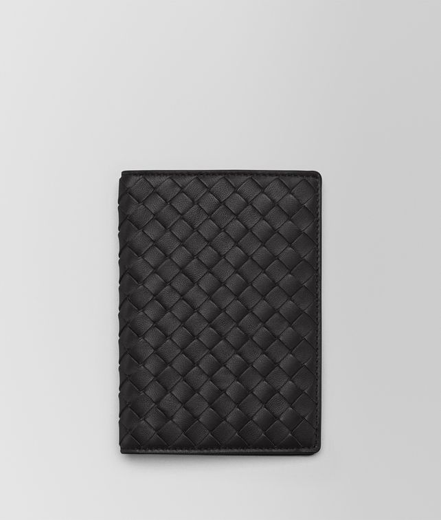 BOTTEGA VENETA PASSPORT CASE IN NERO INTRECCIATO NAPPA Other Leather Accessory E fp