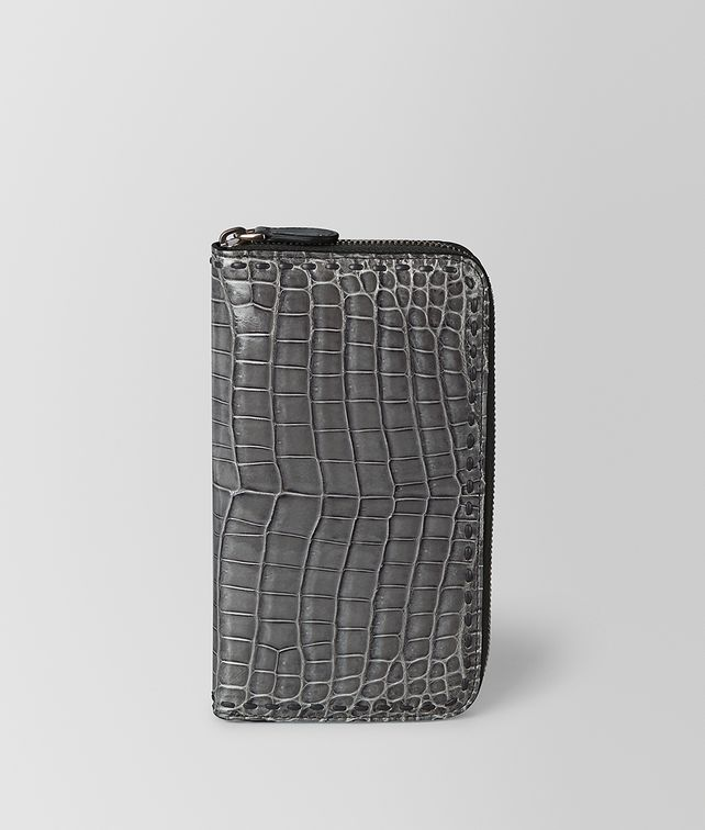 BOTTEGA VENETA ZIP-AROUND WALLET IN CROCODILE Large Wallet E fp