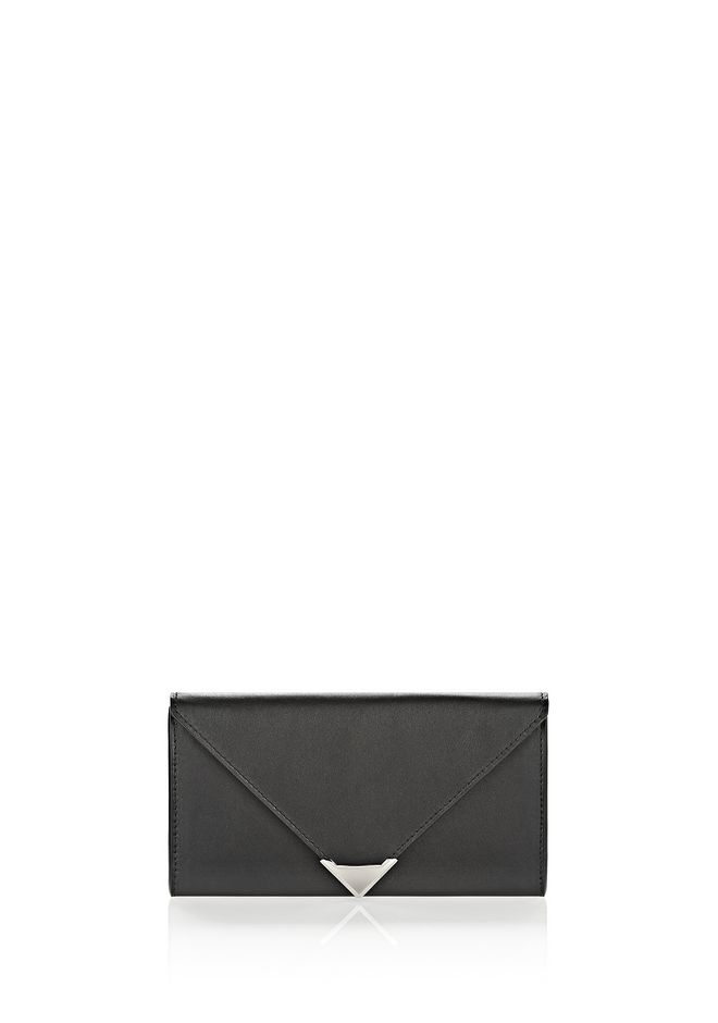 ALEXANDER WANG SMALL LEATHER GOODS Women PRISMA ENVELOPE WALLET IN BLACK