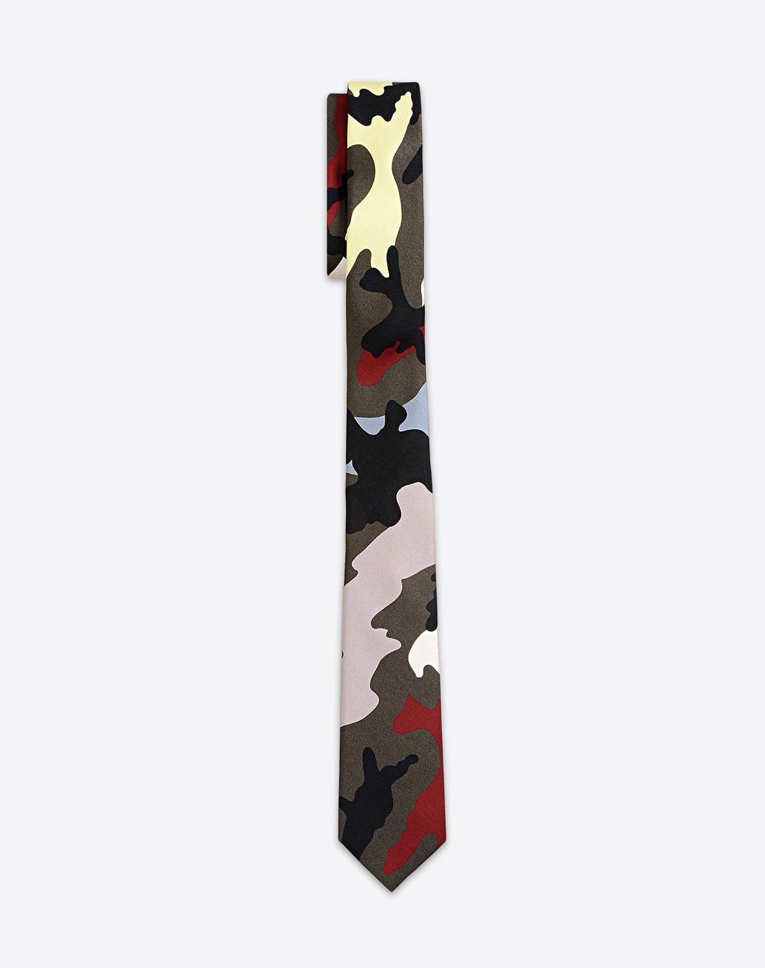 Sergé Cravate Camouflage - Valentino Gris xljCXLyej