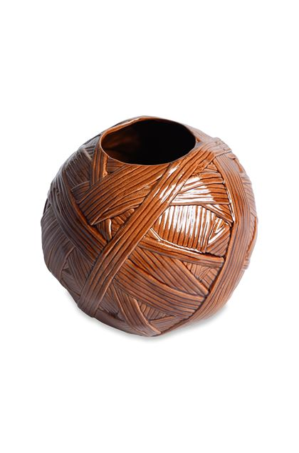 MISSONI HOME JAR_GOMITOLO VASE  Brown E - Front