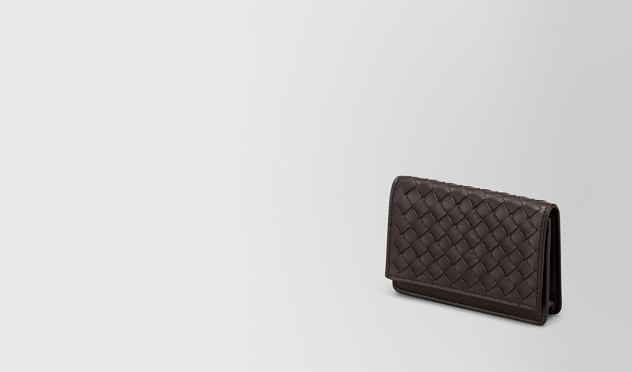 card case in espresso intrecciato nappa landing