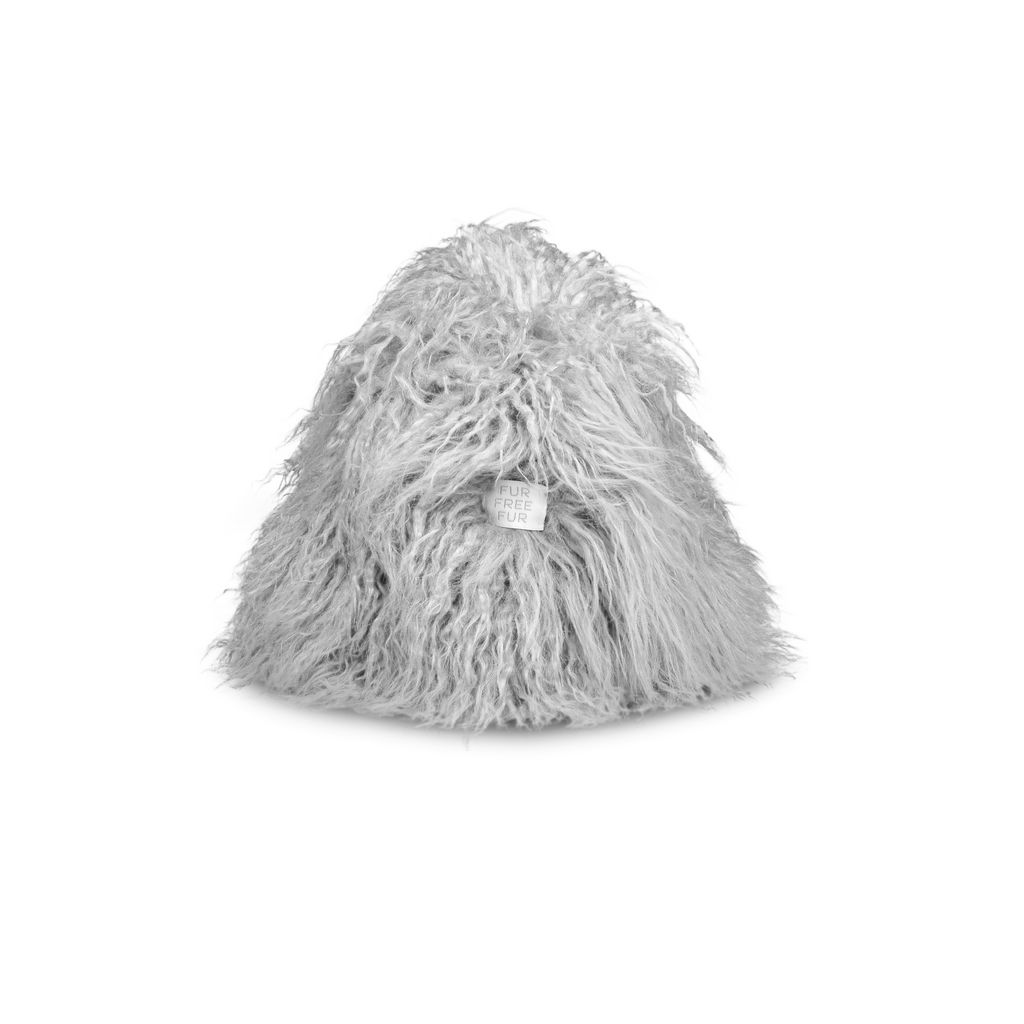 Light Grey Furry Hat - STELLA MCCARTNEY