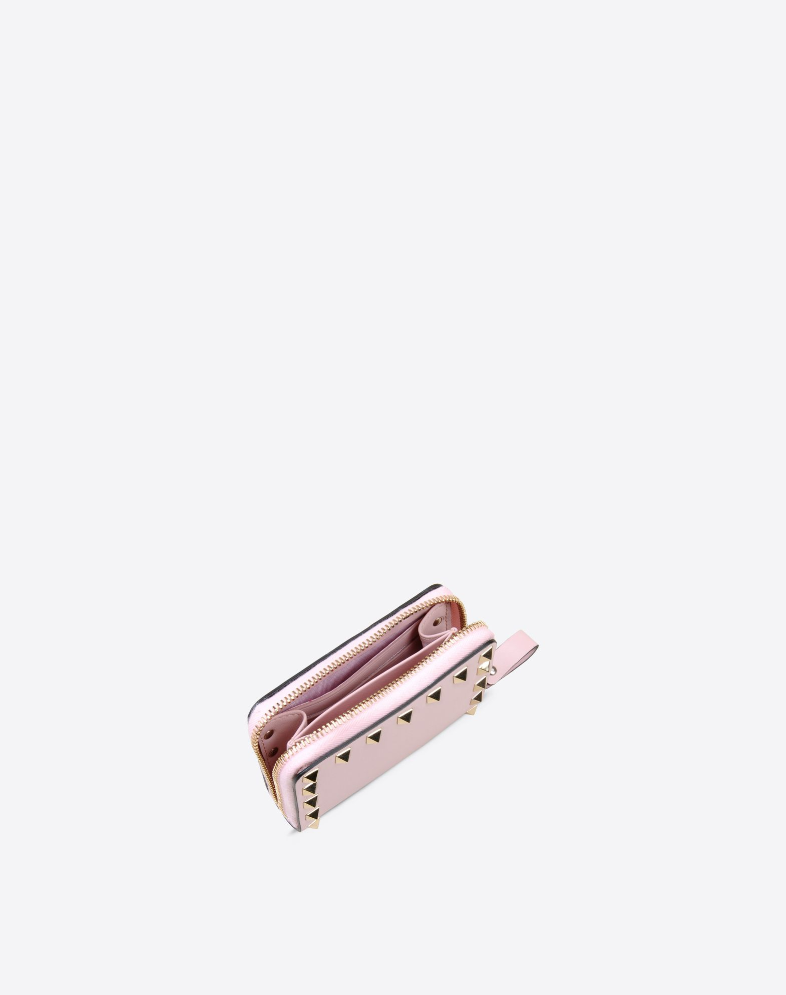 VALENTINO Logo detail Metal Applications Solid colour Internal card slots Zip closure  46421600tl