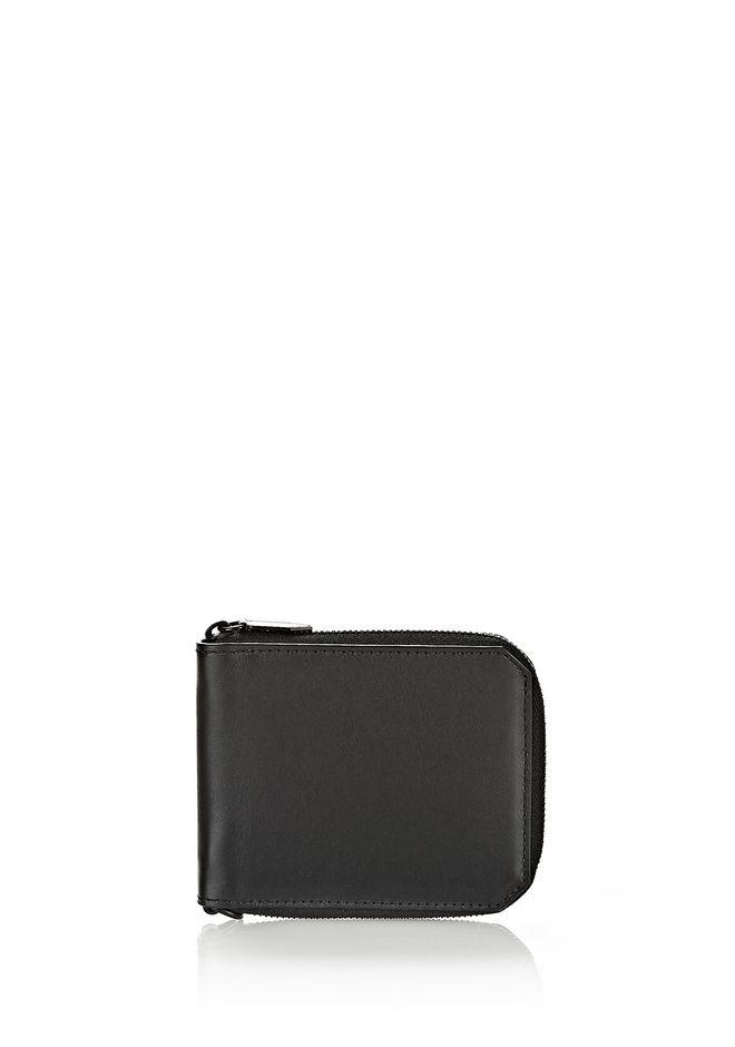 ALEXANDER WANG wallets ZIPPED BI-FOLD WALLET IN SMOOTH BLACK