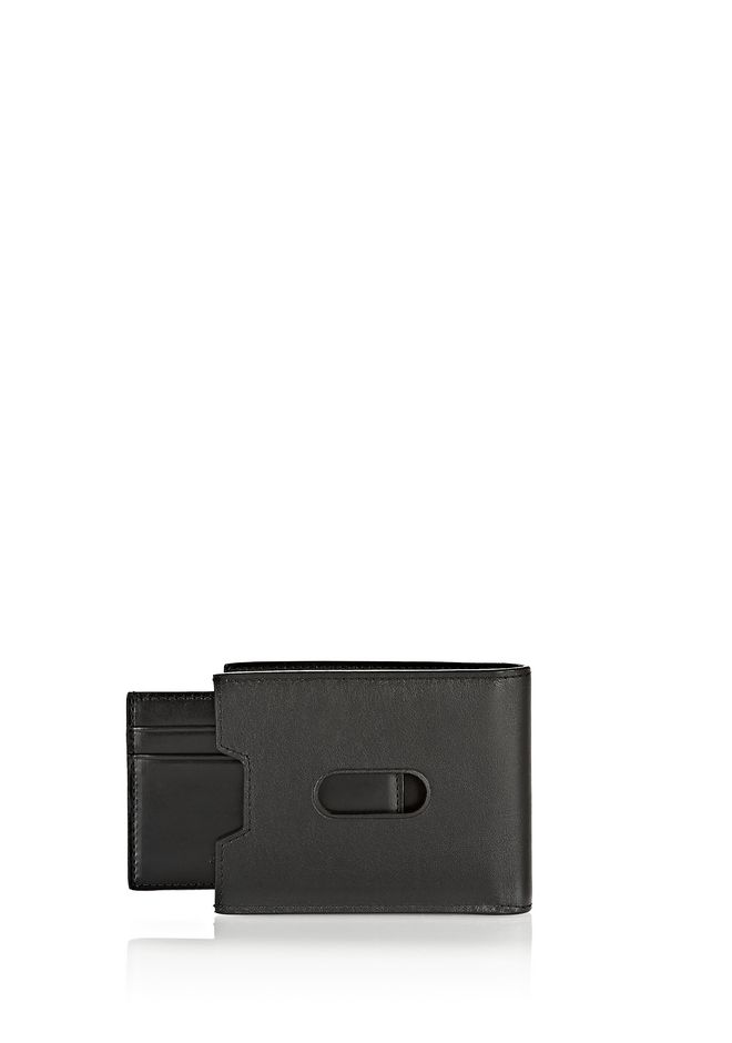 ALEXANDER WANG BI-FOLD WALLET IN SMOOTH BLACK  SMALL LEATHER GOOD Adult 12_n_a