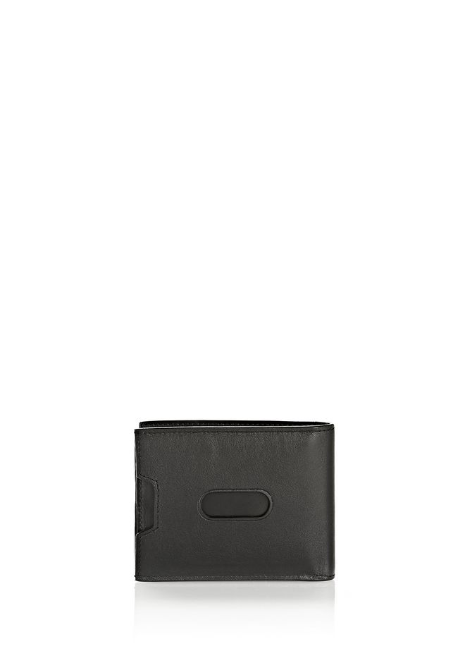 ALEXANDER WANG BI-FOLD WALLET IN SMOOTH BLACK  SMALL LEATHER GOOD Adult 12_n_d
