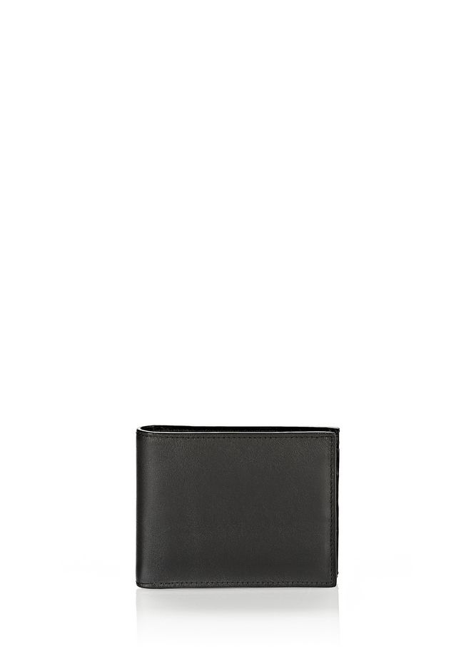 ALEXANDER WANG BI-FOLD WALLET IN SMOOTH BLACK  SMALL LEATHER GOOD Adult 12_n_e