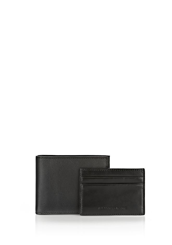 ALEXANDER WANG BI-FOLD WALLET IN SMOOTH BLACK  SMALL LEATHER GOOD Adult 12_n_f