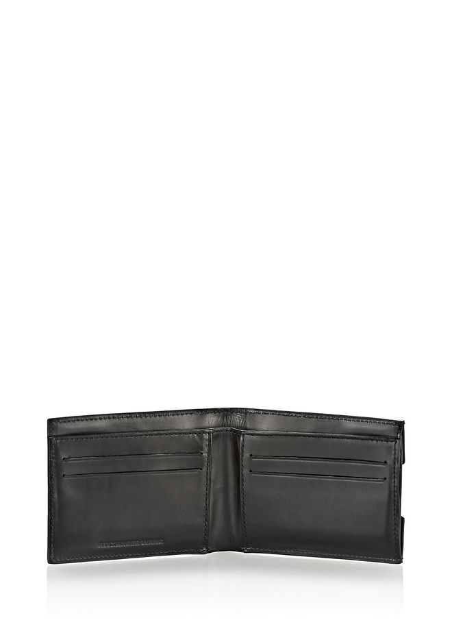 ALEXANDER WANG BI-FOLD WALLET IN SMOOTH BLACK  SMALL LEATHER GOOD Adult 12_n_r