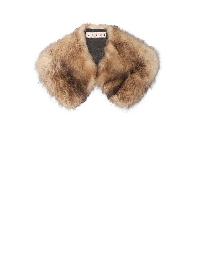 Marni Hooked stole in Pekan fur and jersey Woman - 1