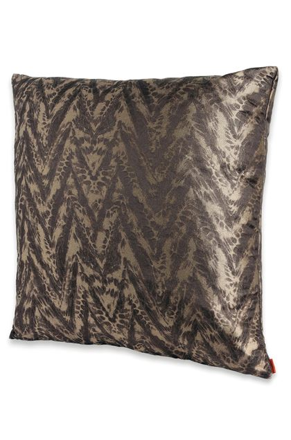 MISSONI HOME REUNION CUSHION Dark brown E - Back