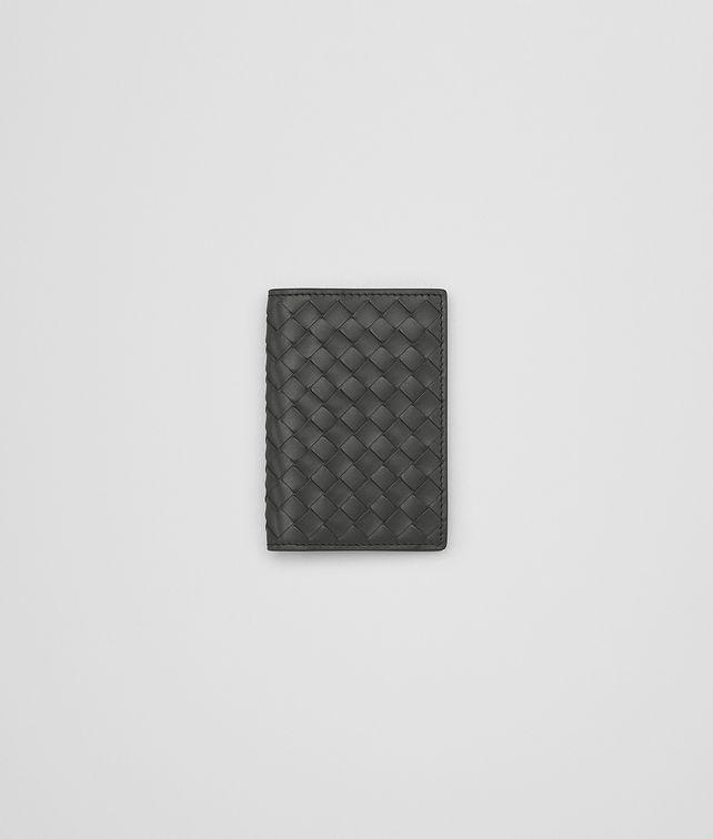 BOTTEGA VENETA CARD CASE IN NEW LIGHT GREY INTRECCIATO VN Card Case or Coin Purse Man fp