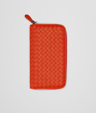 ZIP AROUND WALLET IN VESUVIO INTRECCIATO NAPPA