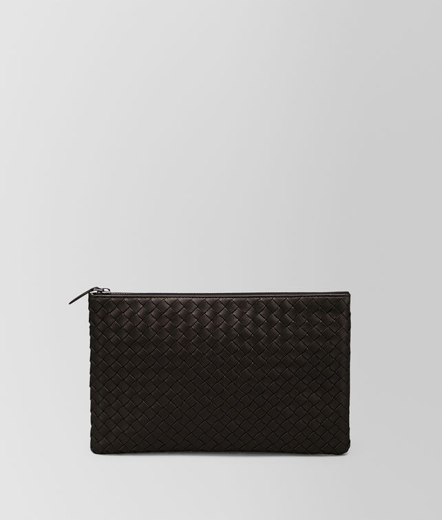 BOTTEGA VENETA MEDIUM DOCUMENT CASE IN ESPRESSO INTRECCIATO NAPPA Pouch and case E fp