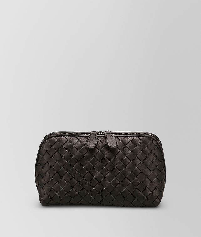 BOTTEGA VENETA MEDIUM COSMETIC CASE IN ESPRESSO INTRECCIATO NAPPA  Other Leather Accessory Woman fp