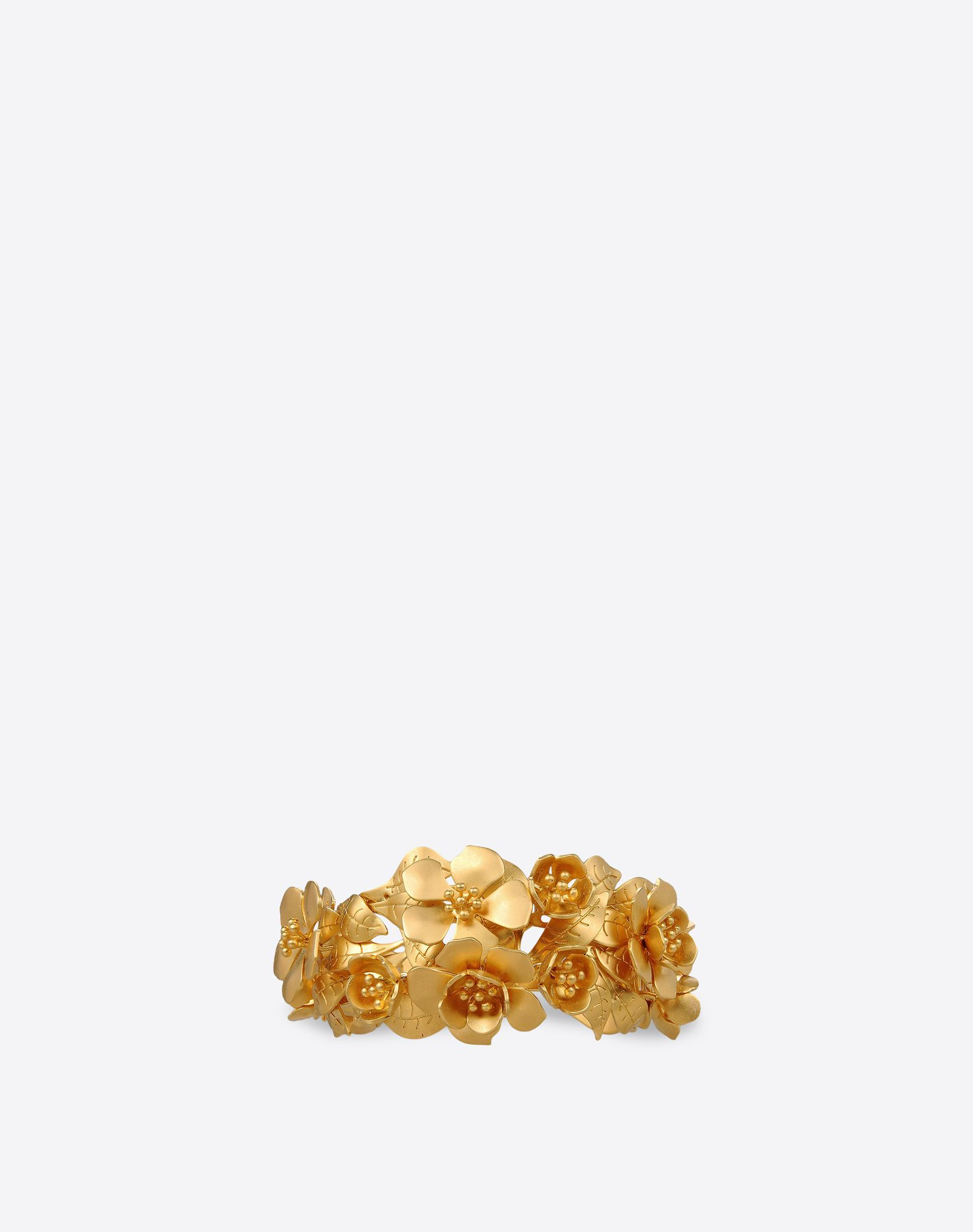 VALENTINO Valentino Garavani brass cuff  - Mat gold-finish brass  - Brass flowers entirely made and assembled by hand  - Made in Italy 46427275gq
