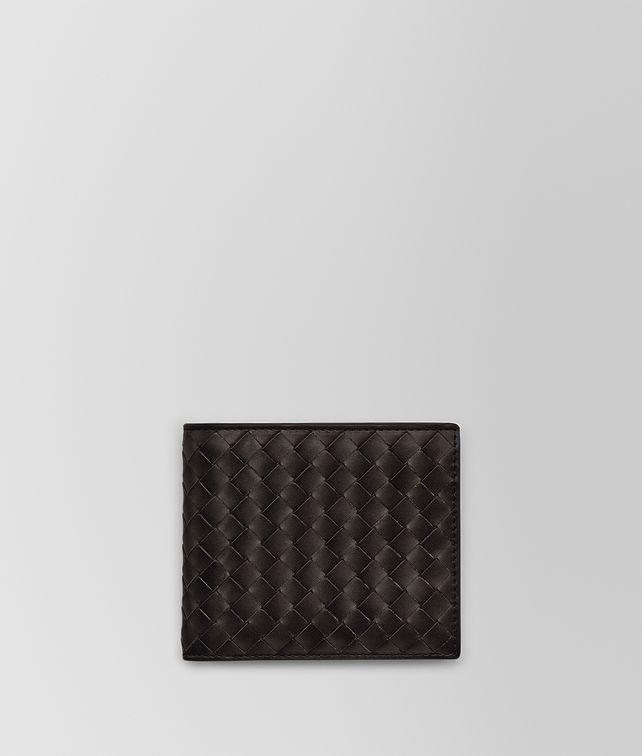 BOTTEGA VENETA BI-FOLD WALLET IN ESPRESSO INTRECCIATO VN Small Wallet [*** pickupInStoreShippingNotGuaranteed_info ***] fp