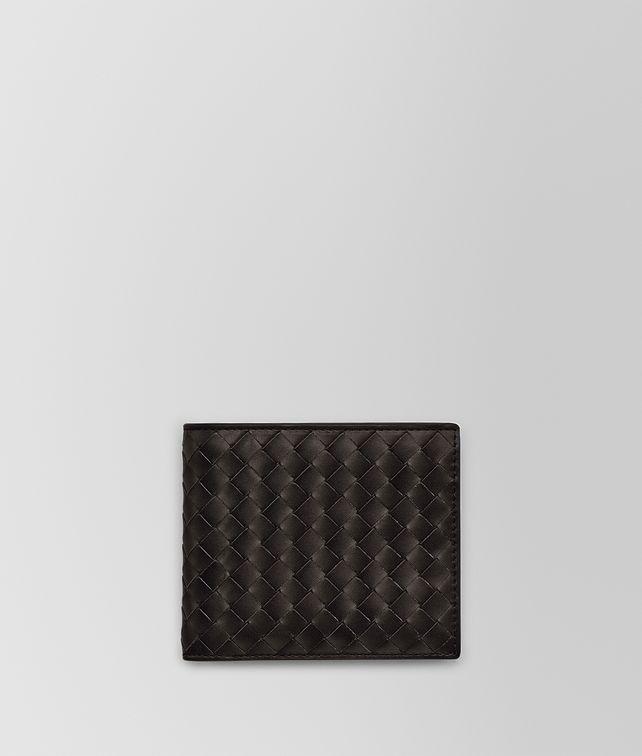 BOTTEGA VENETA BI-FOLD WALLET IN ESPRESSO INTRECCIATO VN Small Wallet Man fp