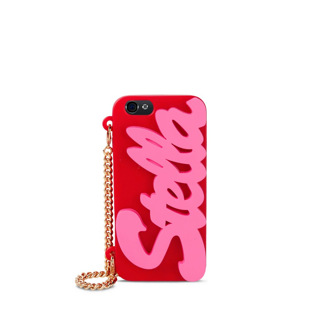 Pink and red Logo iPhone 6 Cover - STELLA MCCARTNEY