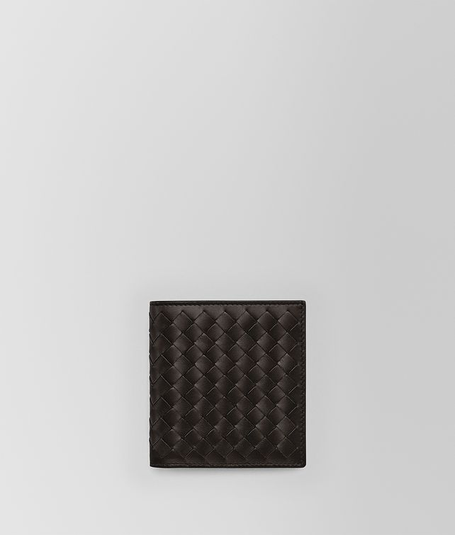 BOTTEGA VENETA SMALL BI-FOLD WALLET IN ESPRESSO INTRECCIATO VN Bi-fold Wallet Man fp