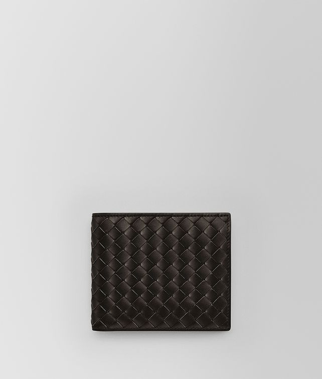 BOTTEGA VENETA BI-FOLD WALLET WITH COIN PURSE IN ESPRESSO INTRECCIATO VN Small Wallet Man fp
