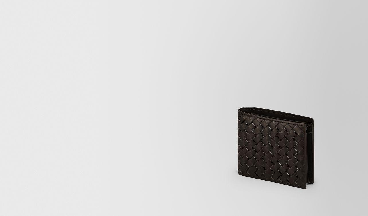 espresso intrecciato coin purse bi-fold wallet landing
