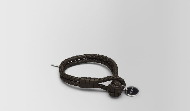 Bottega Veneta Argento Ossidato Intrecciato Gros Grain Bracelet Xs Argento ossidato RBuXi9b0rP