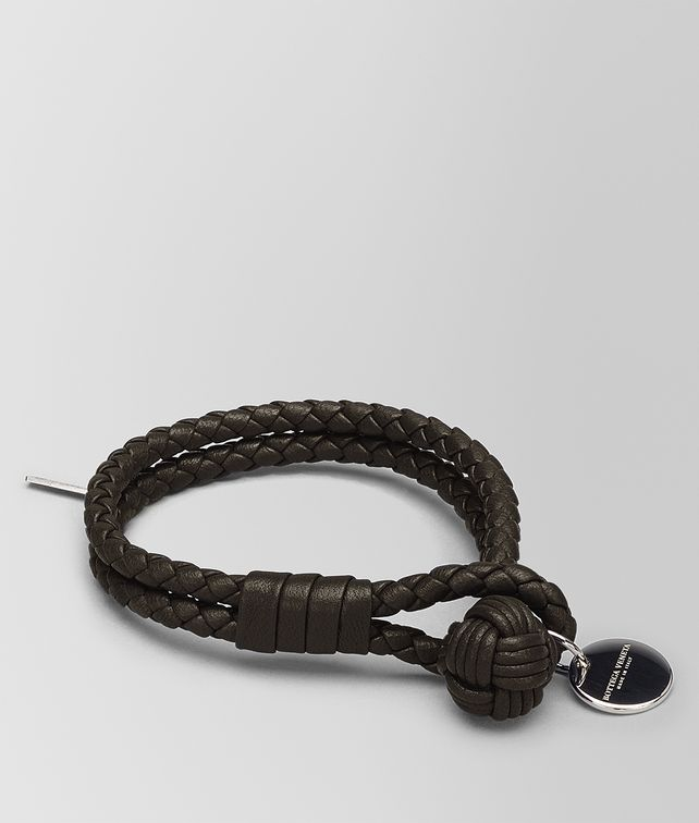 BOTTEGA VENETA BRACELET IN ESPRESSO INTRECCIATO NAPPA Other Accessories E fp