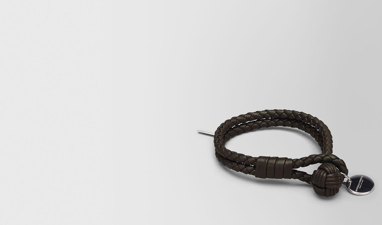 bracelet in espresso intrecciato nappa landing