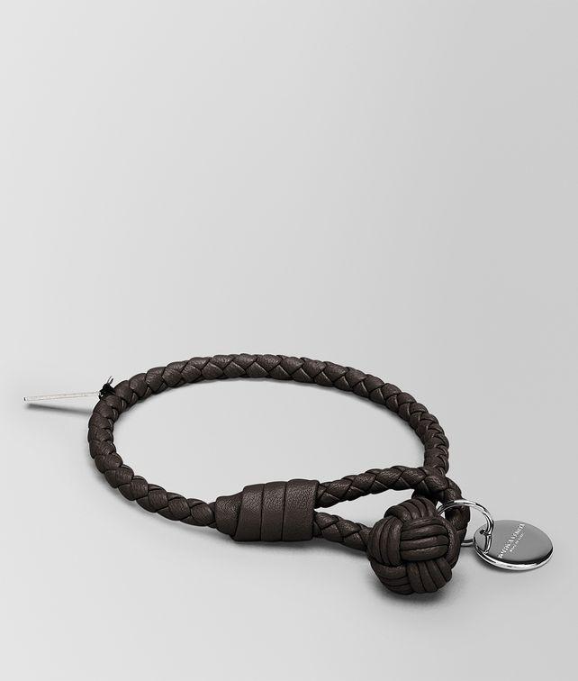 Bottega Veneta Bracelet In Espresso Intrecciato Na Keyring Or Bracelets E Fp