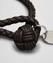 BOTTEGA VENETA BRACELET IN ESPRESSO INTRECCIATO NAPPA  Keyring or Bracelets E ap