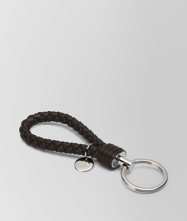 BOTTEGA VENETA KEY RING IN ESPRESSO INTRECCIATO NAPPA  Keyring or Bracelets E fp