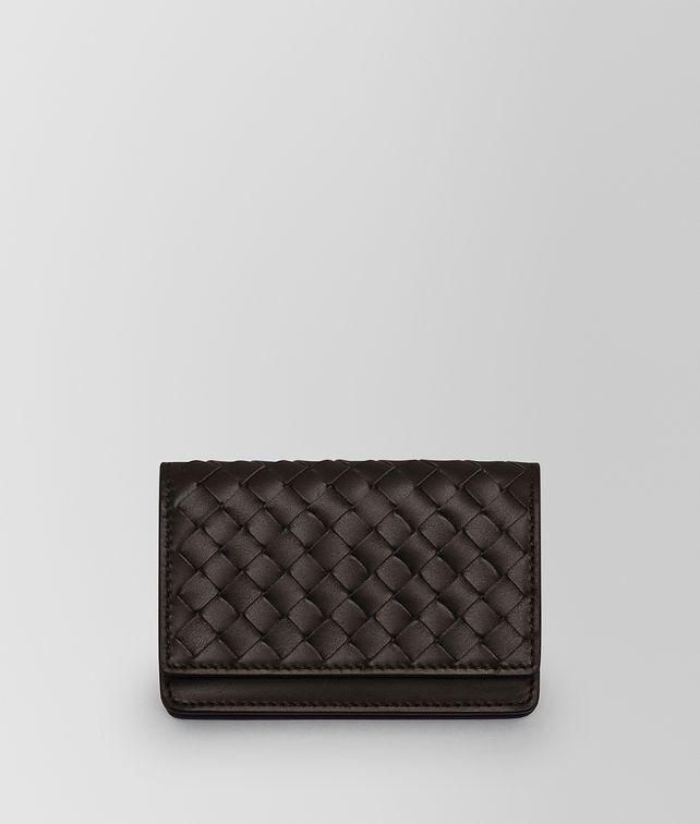 BOTTEGA VENETA CARD CASE IN ESPRESSO INTRECCIATO VN  Card Case or Coin Purse Man fp