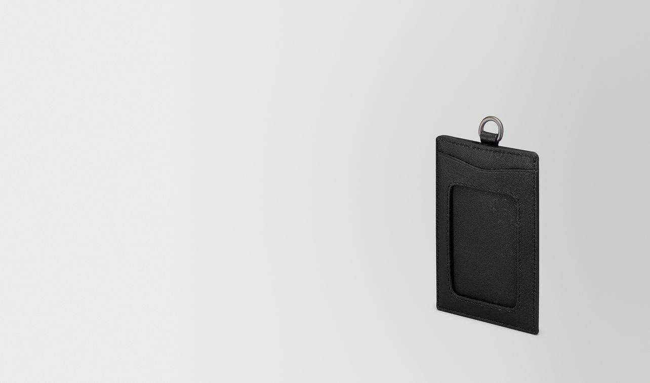 card case in nero intrecciato nappa  landing