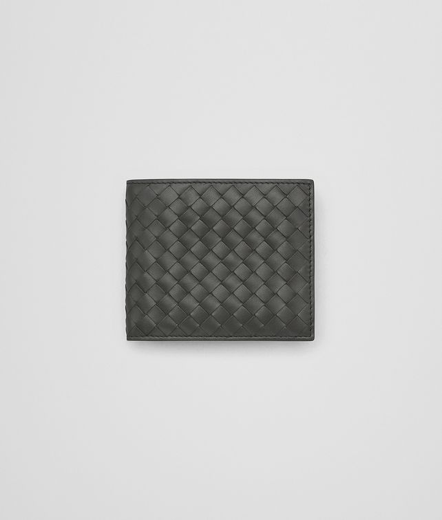BOTTEGA VENETA BI-FOLD WALLET IN NEW LIGHT GRAY INTRECCIATO VN Bi-fold Wallet Man fp