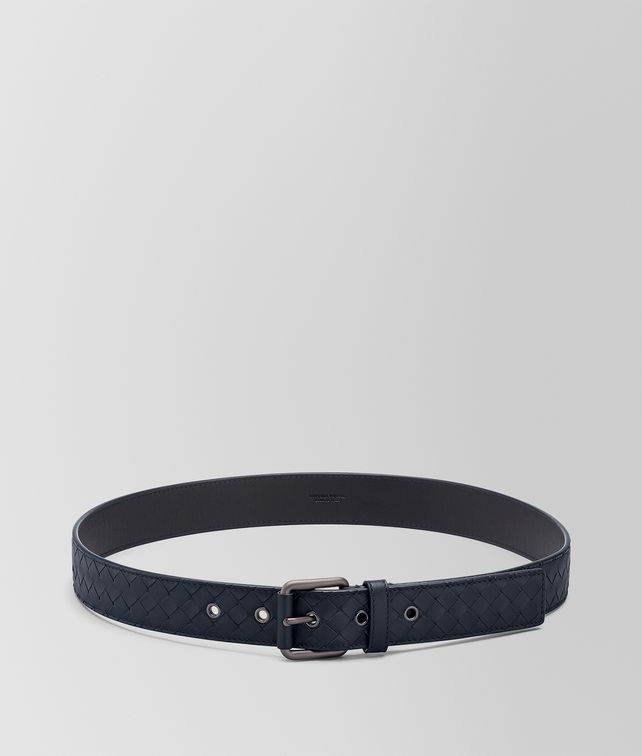BOTTEGA VENETA LIGHT TOURMALINE INTRECCIATO BELT Belt Man fp