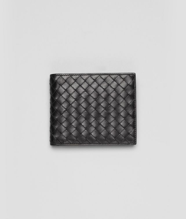 BOTTEGA VENETA BI-FOLD WALLET WITH ID WINDOW IN NERO INTRECCIATO VN Bi-fold Wallet Man fp