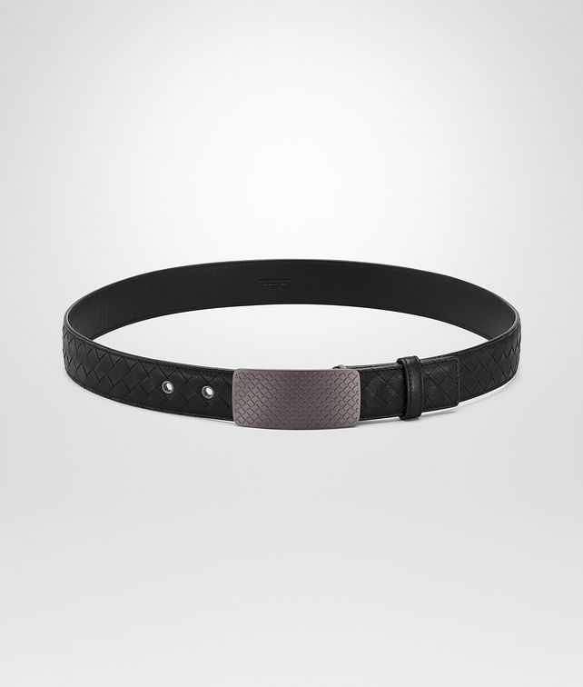 BOTTEGA VENETA BELT IN NERO INTRECCIATO CALF Belt U fp