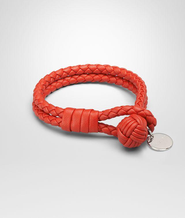 BOTTEGA VENETA BRACELET IN VESUVIO INTRECCIATO NAPPA Keyring or Bracelets E fp