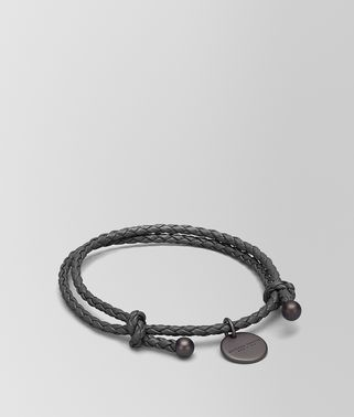 BRACELET IN NEW LIGHT GREY INTRECCIATO NAPPA