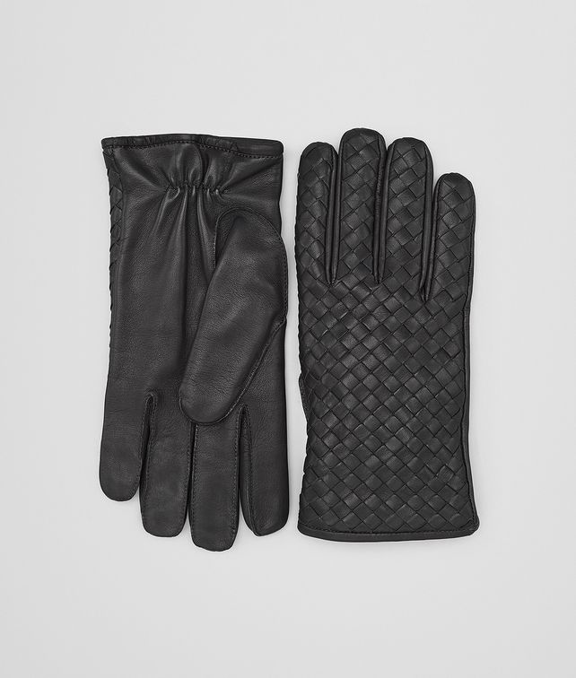 BOTTEGA VENETA GLOVES IN DARK ARDOISE NAPPA Hat or gloves Man fp