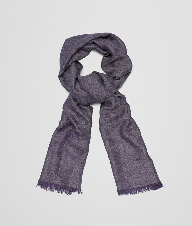 BOTTEGA VENETA SCARF IN ANTHRACITE BLUE CASHMERE WOOL SILK Scarf Man fp