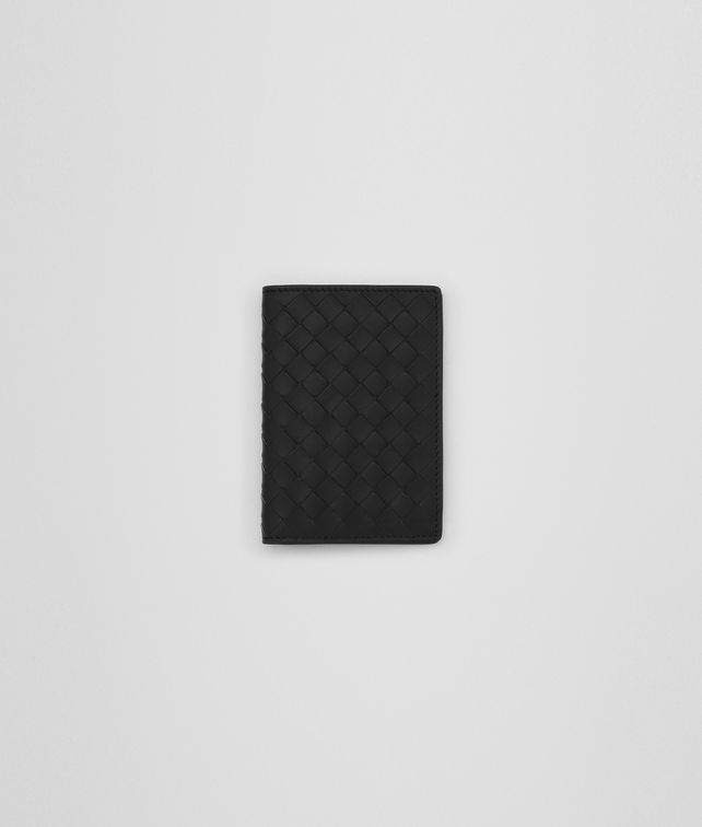 BOTTEGA VENETA CARD CASE IN NERO INTRECCIATO NAPPA Card Case or Coin Purse E fp