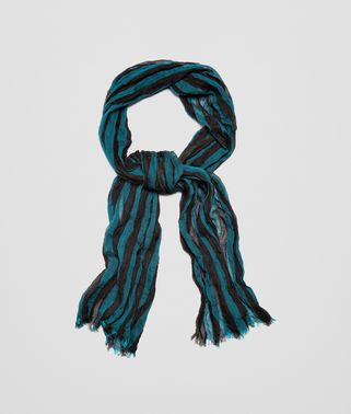 SCARF IN COFFEE DARK GREEN COTTON AND MODAL