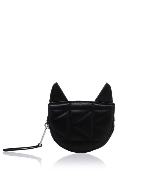 KARL LAGERFELD K/KUILTED CAT COIN PURSE 12_f