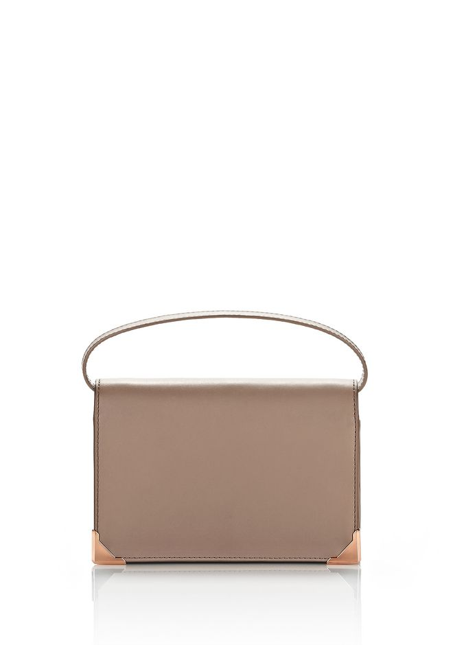 ALEXANDER WANG accessories-classics PRISMA BIKER PURSE IN LATTE WITH ROSE GOLD