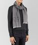 BOTTEGA VENETA GRAPHITE MEDIUM GREY CASHMERE WOOL SILK SCARF Scarf Man rp