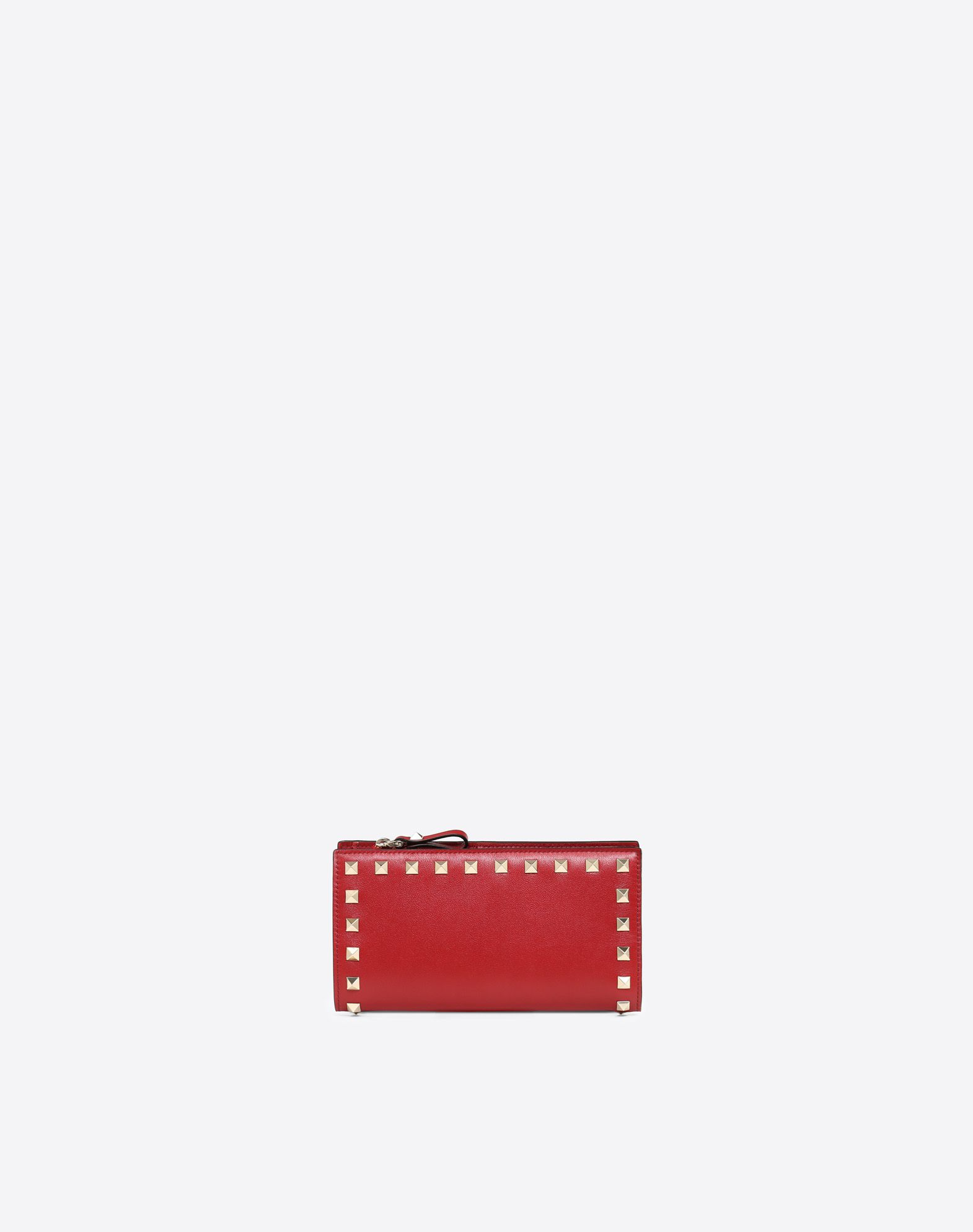 VALENTINO Studs Logo Solid color Snap button fastening Internal card slots  46439685ue